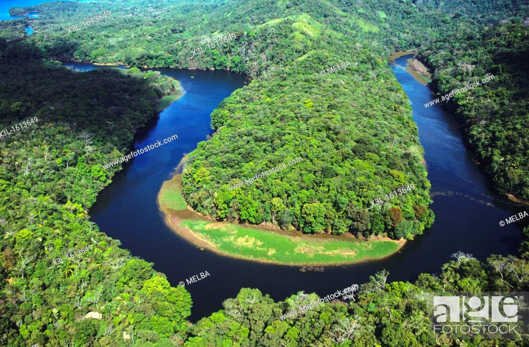 Stock Photo: Chagres river  Chagres National Park  Panama.
