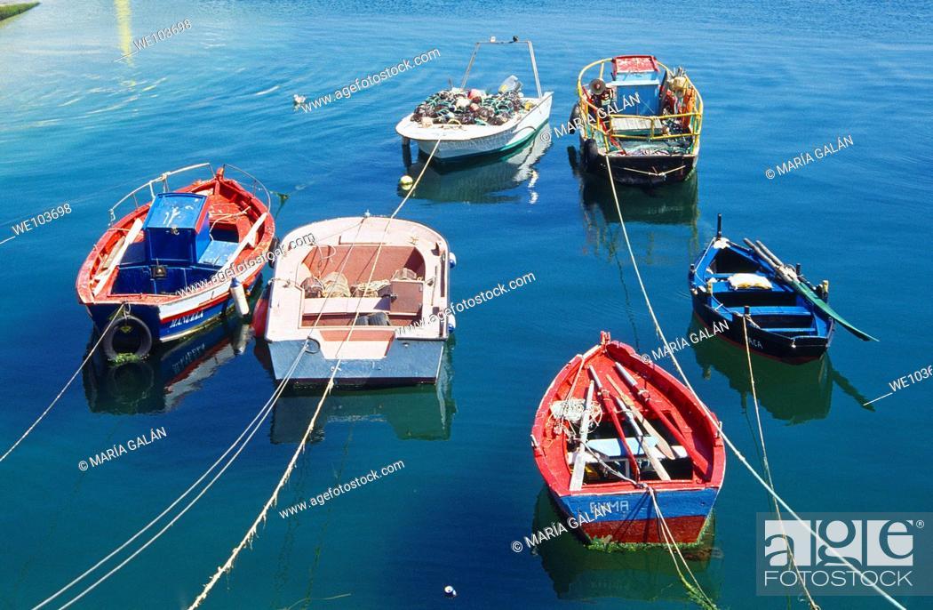 Stock Photo: Fishing boats. Ribeira, La Coruña province, Galicia, Spain.