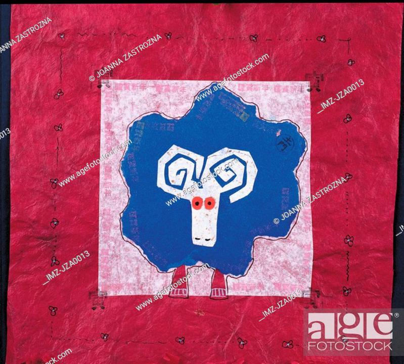 Stock Photo: Artwork representing the Aries zodiac sign.