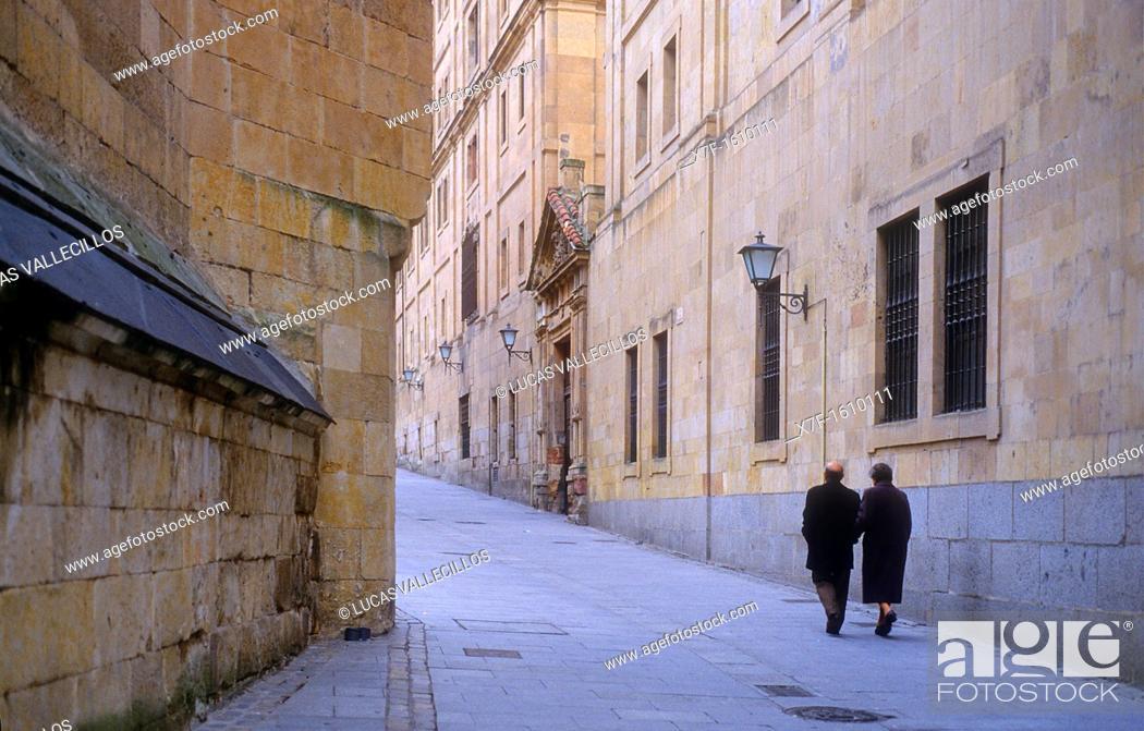Stock Photo: Compañía street,Salamanca,Spain.