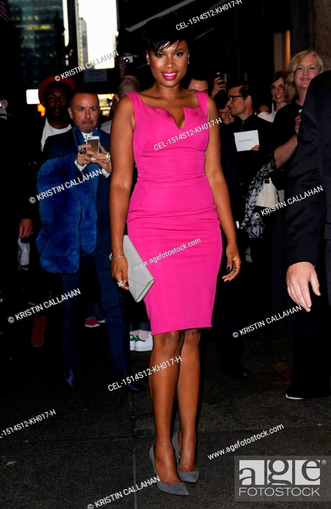 Stock Photo: Jennifer Hudson at arrivals for Zac Posen Spring & Summer 2016 Fashion Collection Presentation, Vanderbilt Hall at Grand Central Terminal, New York.