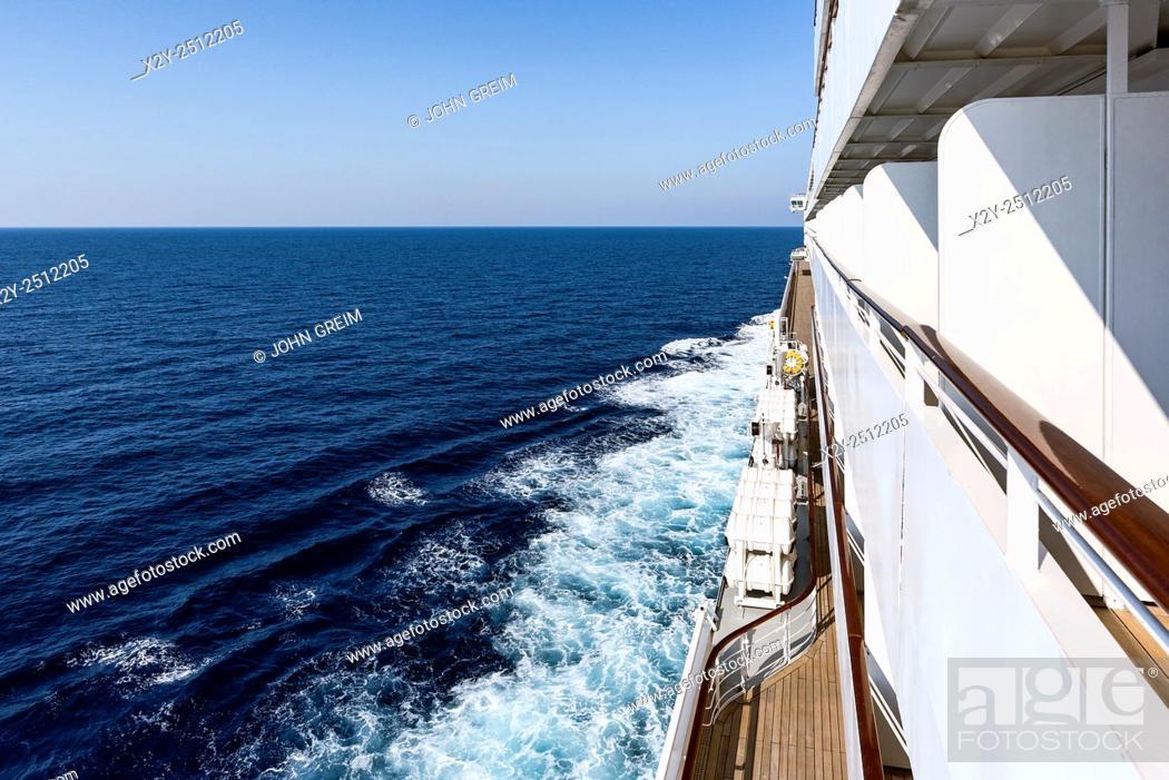 Stock Photo: Cruise ship at sea, Italy.