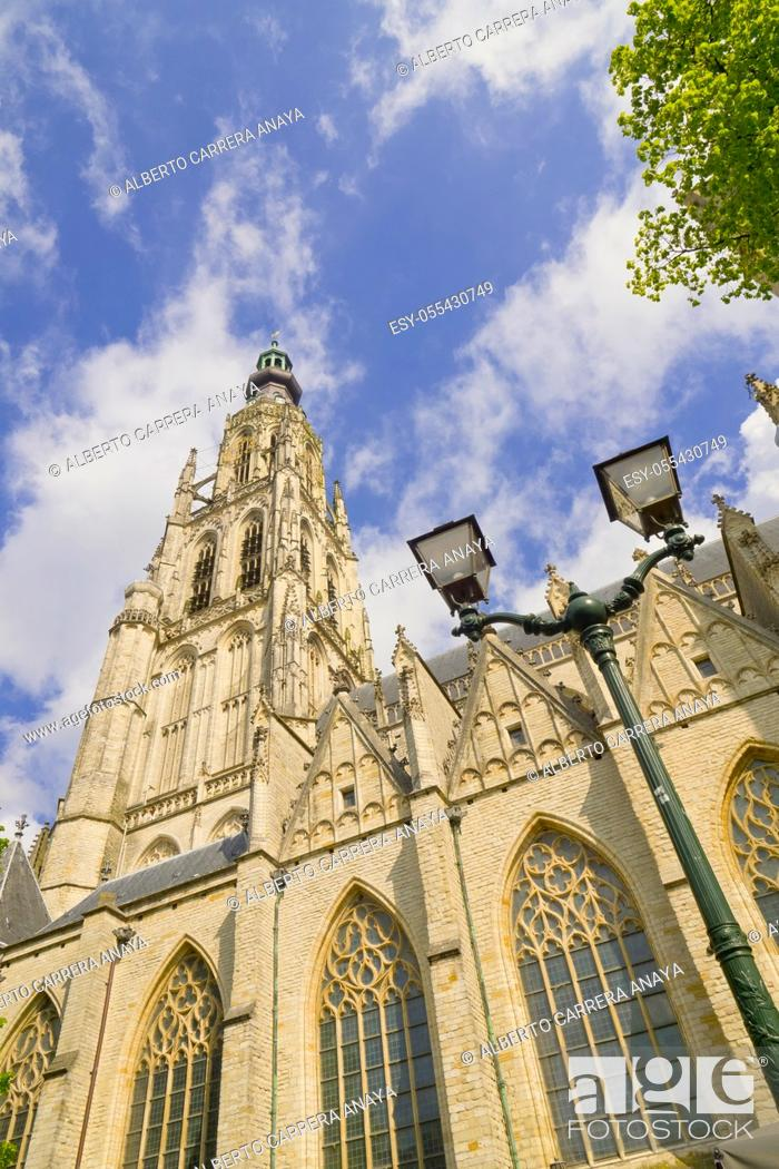 Stock Photo: Grote Kerk, Church of Our Lady, Brabantine Gothic Style, Breda, Noord-Brabant Province, Holland, Netherlands, Europe.