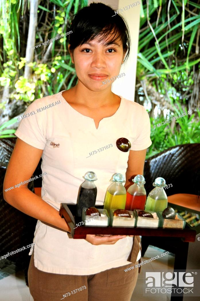 Stock Photo: Indian Ocean, Maldives, South Ari Atoll, Dhidhoofinolhu, Diva Resort, Naiad,.