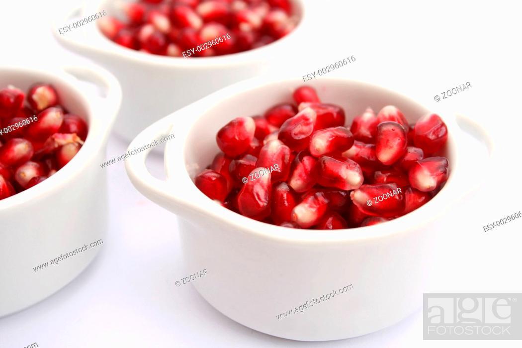 Stock Photo: Granatapfelkerne.