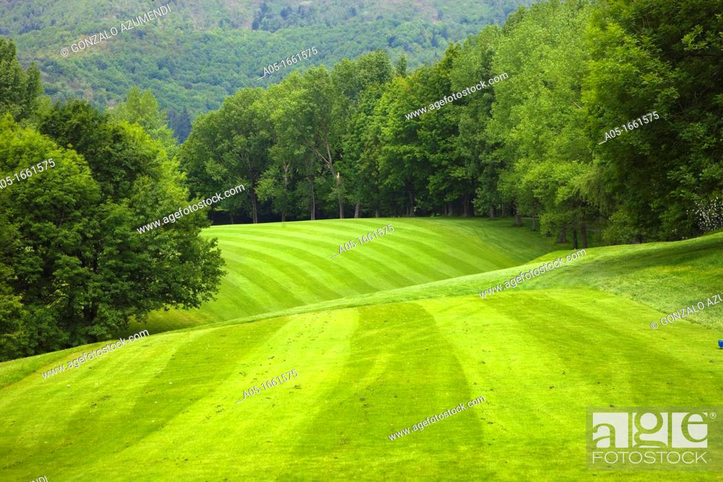 Stock Photo: The Royal Golf Club of San Sebastian, Hondarribia, Guipuzcoa, Basque Country, Spain.