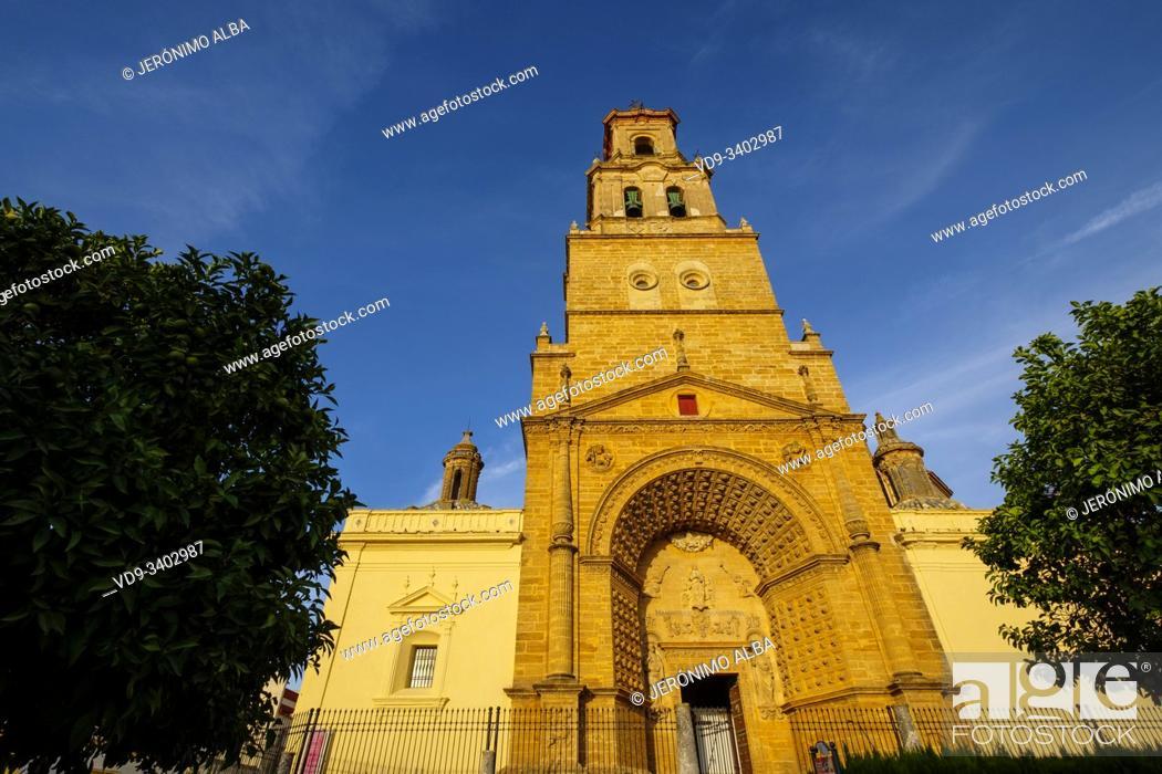 Stock Photo: Gothic style Church of Santa María de la Mesa, Utrera. Sevilla province. Southern Andalusia, Spain. Europe.