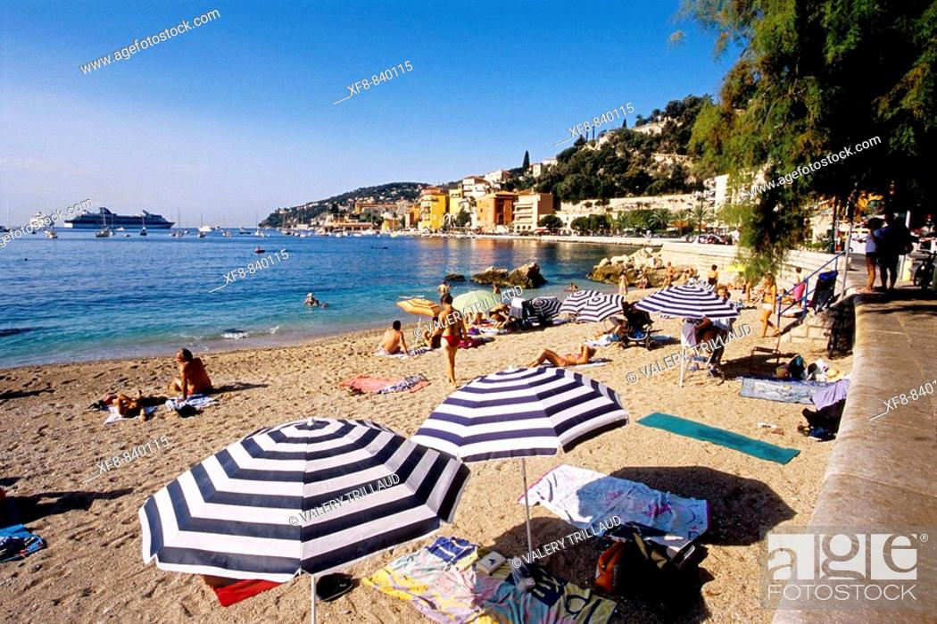 Stock Photo: Villefranche sur mer Alpes-Maritimes 06 France French Riviera Cote d'Azur Europe.