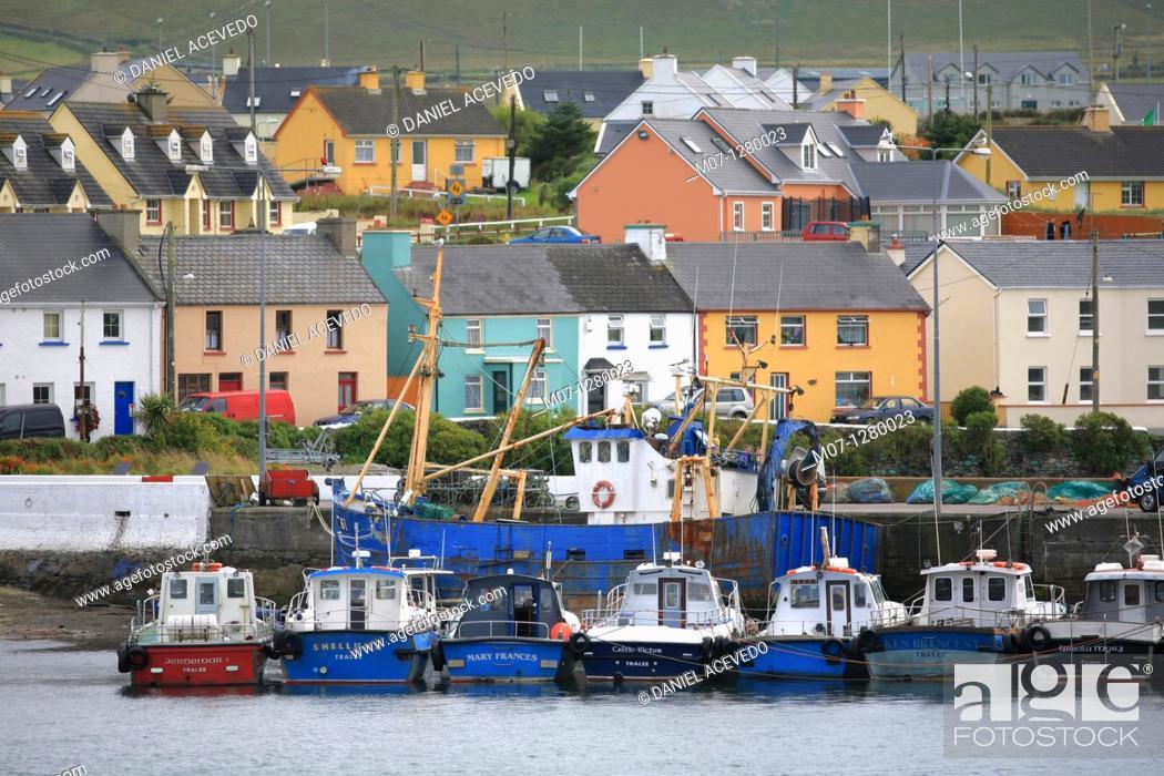 Stock Photo: Portmagee, Kerry, Ireland.