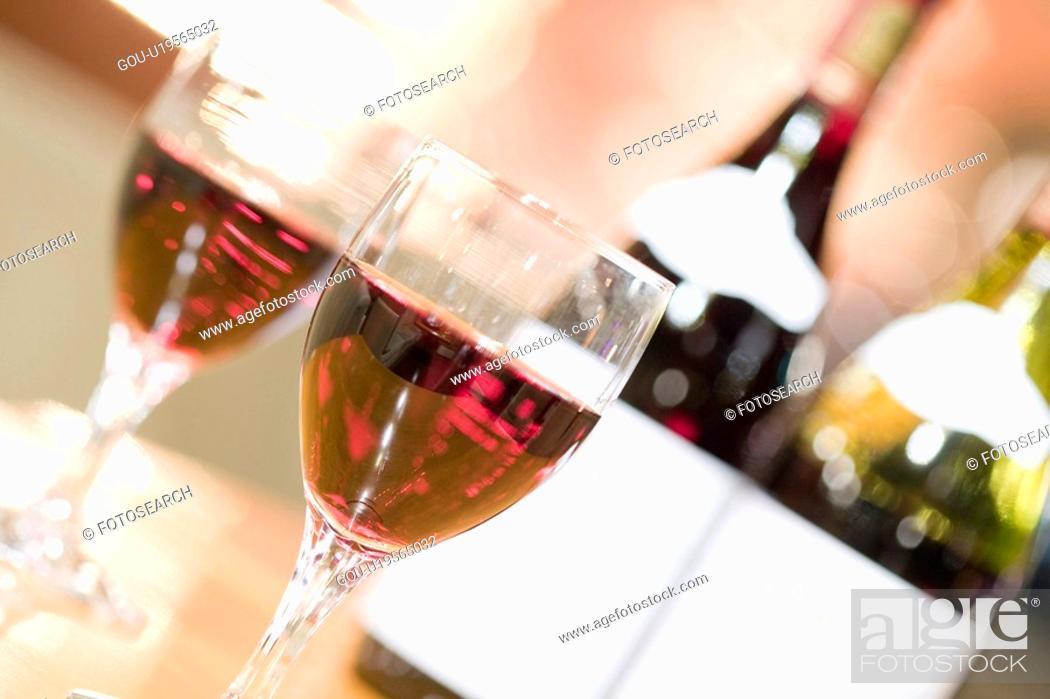 Stock Photo: Red wine.