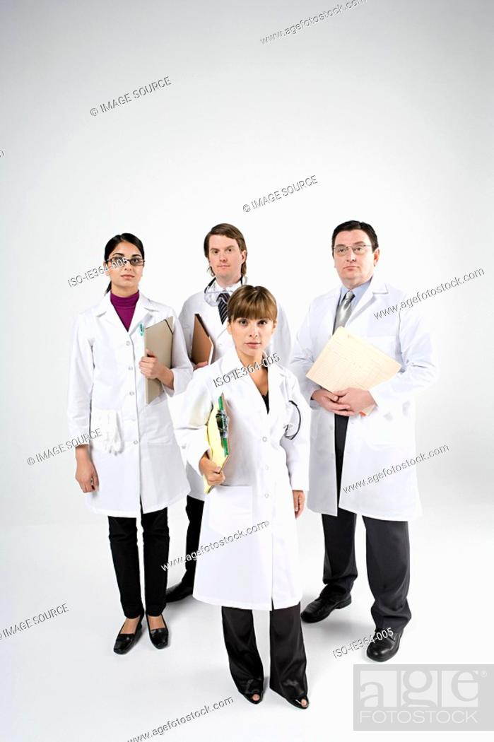 Stock Photo: Scientists.