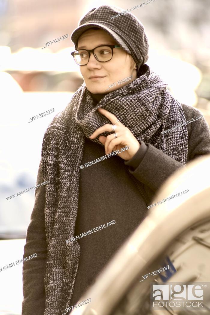 Stock Photo: woman, Munich, Germany.