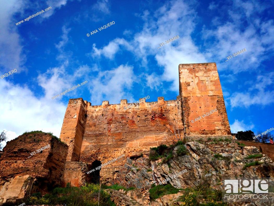 Stock Photo: Remains of the Almohade and Alcazaba walls, Cáceres, Estremadura.