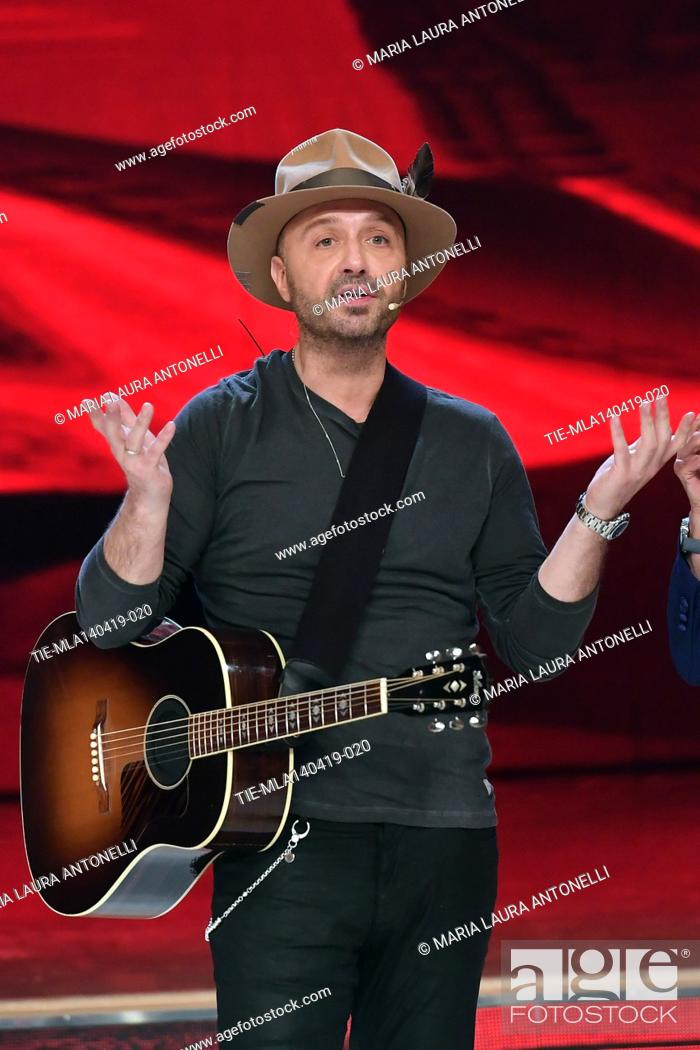 Stock Photo: Joe Bastianich during perfomance at the talent show ' Ballando con le stelle ' (Dancing with the stars) Rome, ITALY-14-04-2019.