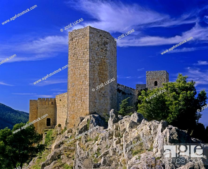 Stock Photo: Castle of Santa Catalina (13th century), Jaen, Region of Andalusia, Spain, Europe.