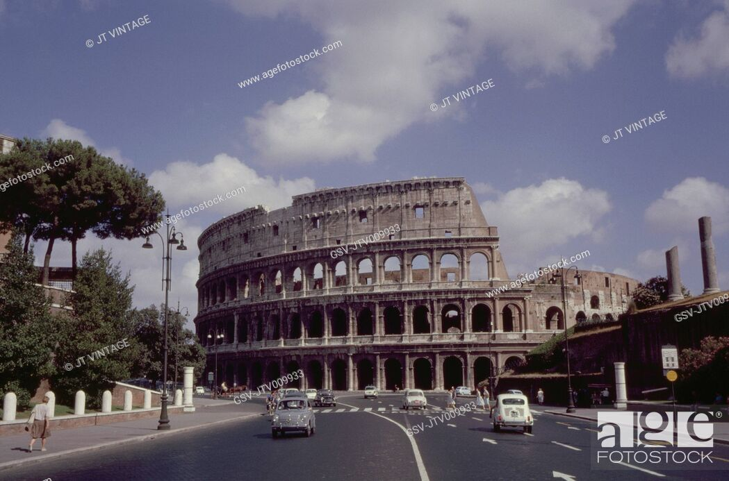 Stock Photo: Ancient Colosseum, Rome, Italy, 1961.
