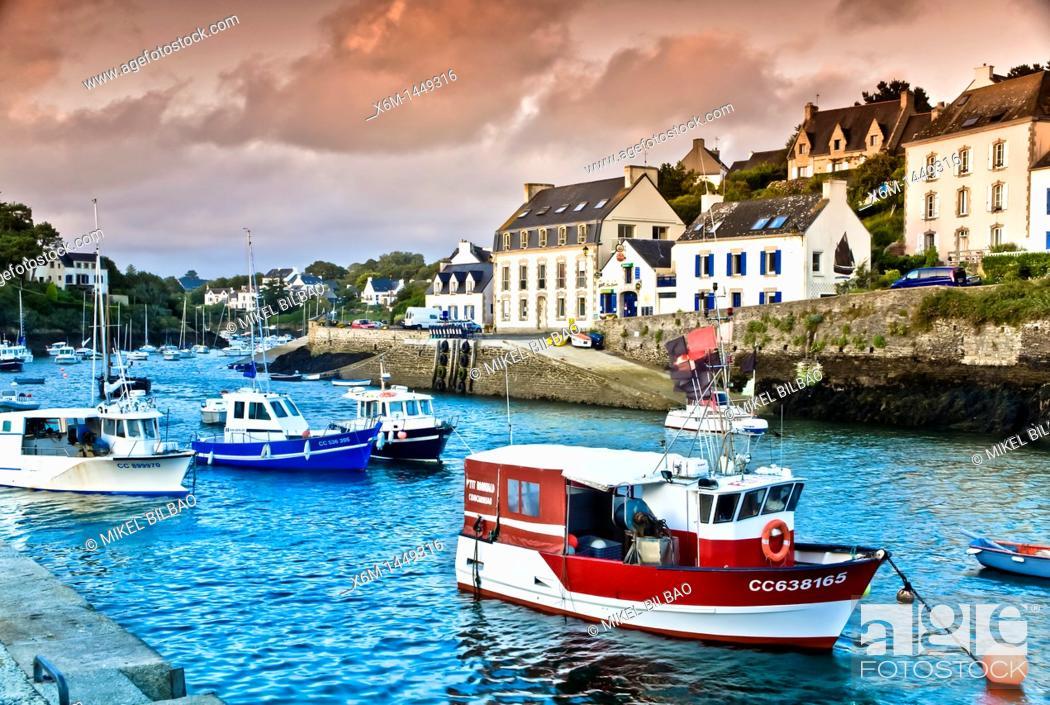 Stock Photo: Doelan village  Brittany, France, Europe.