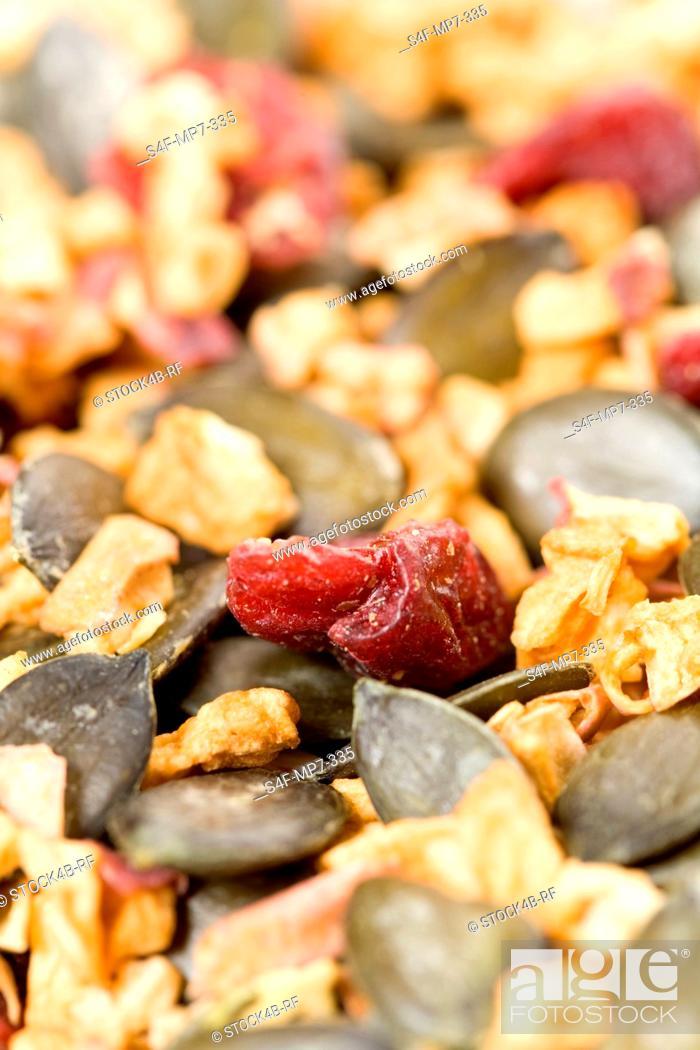 Stock Photo: Detail of muesli.