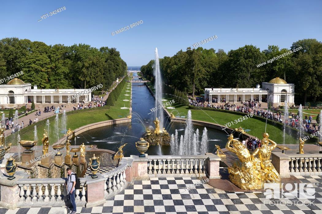 Photo de stock: St. Petersburg Russia. Peterhof Palace.