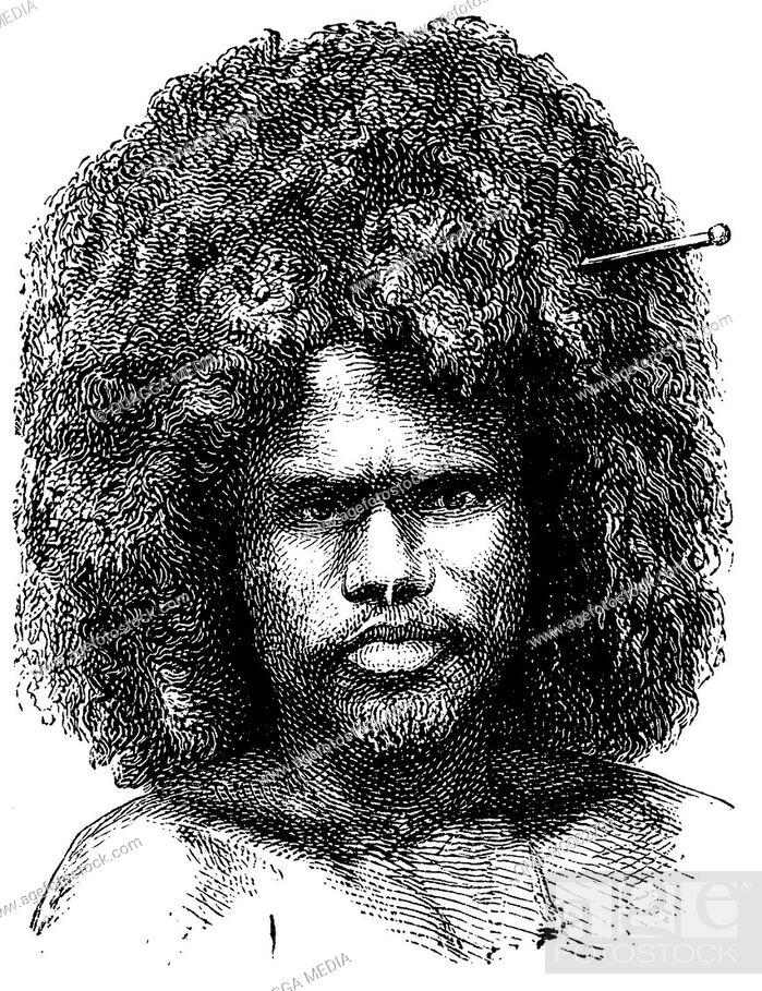 Stock Photo: Portrait of a Papuan.