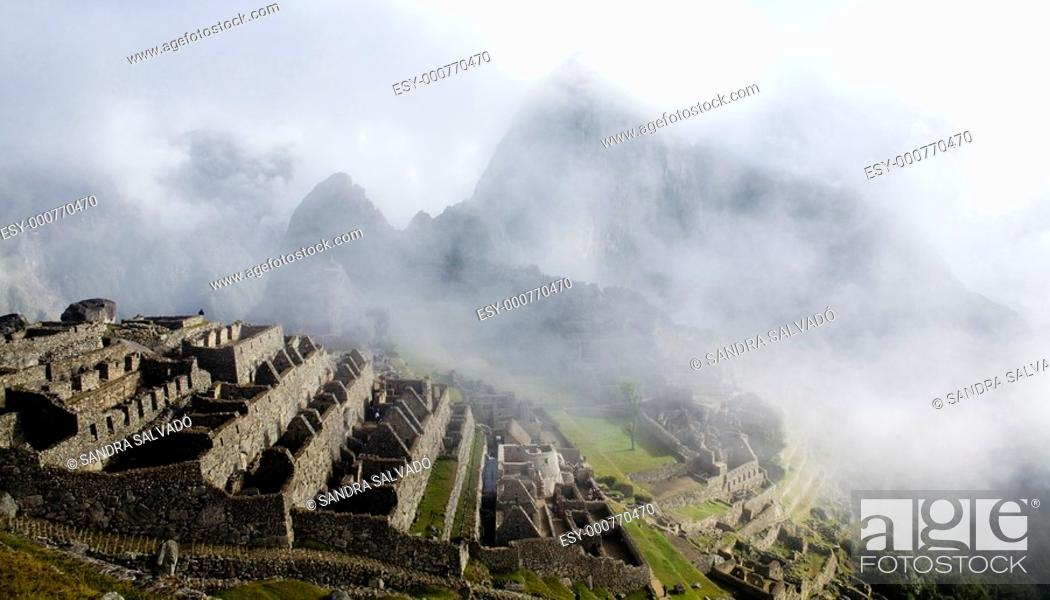 Stock Photo: Archaeological site Machu Pichu.
