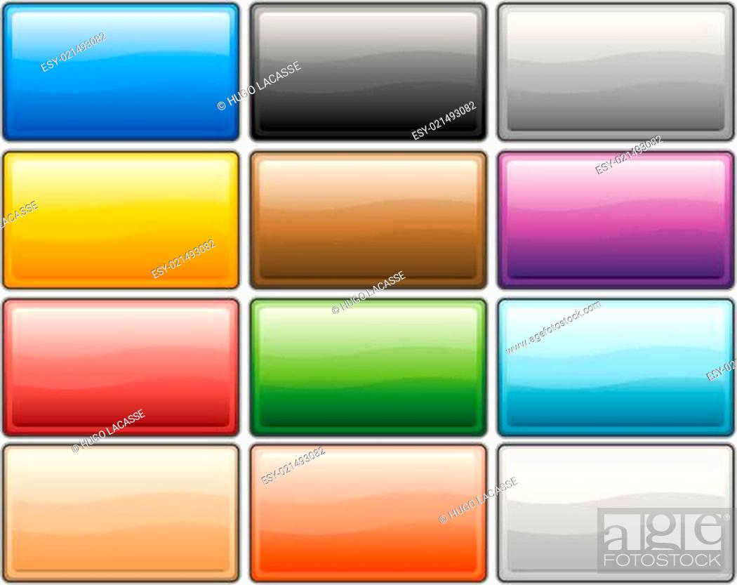 Stock Photo: Glossy media internet buttons.