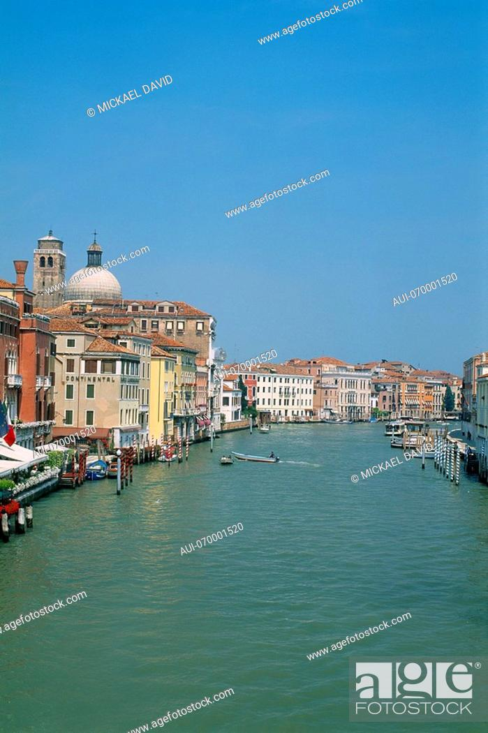 Stock Photo: Italy - Venice - view of the Gran Canal - activity - palazzi - waterway.