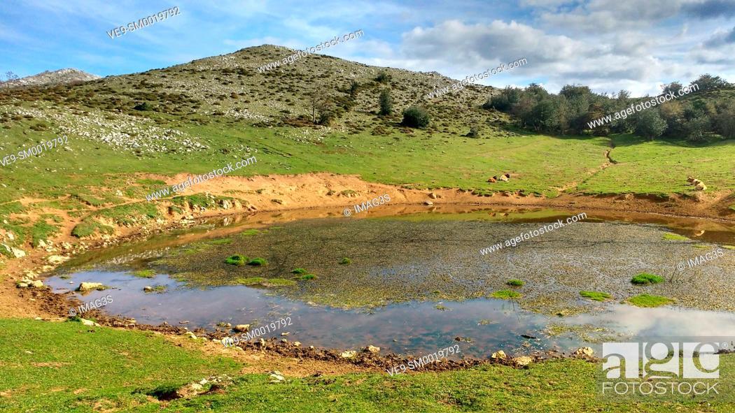 Stock Photo: Puertos de Marabio Natural Monument, Yernes y Tameza municipality, Asturias, Spain.