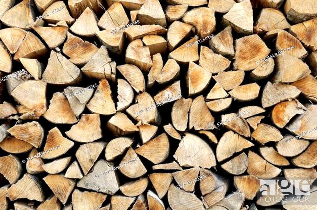 Stock Photo: Logs background.