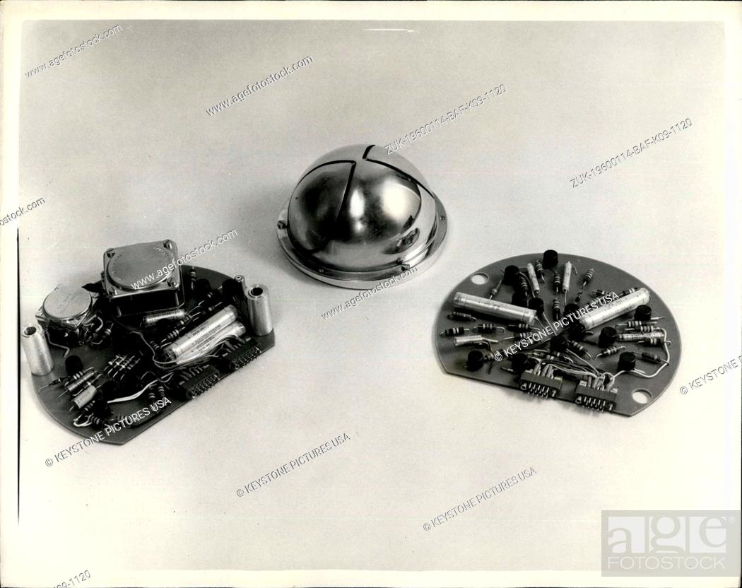 Stock Photo: 1973 - Instruments For The First British Satellite To Be Launched By The U.S. Scout Rocket: The Space Research Group of the Department of Physics of University.