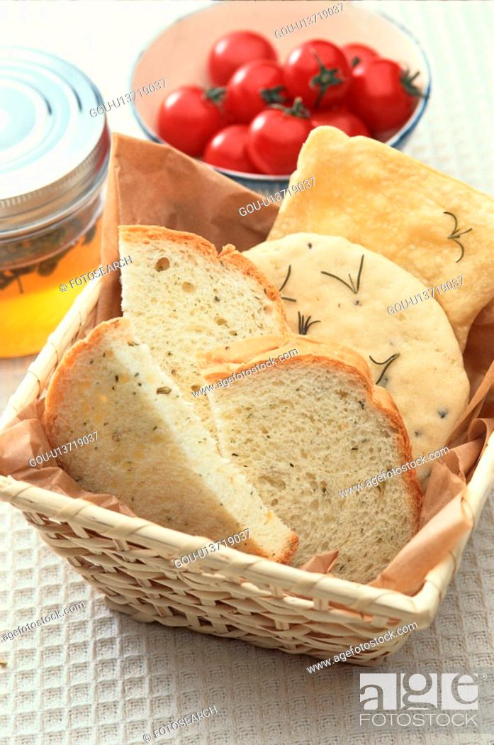 Stock Photo: Slices Of Bread Near Tomatoes.