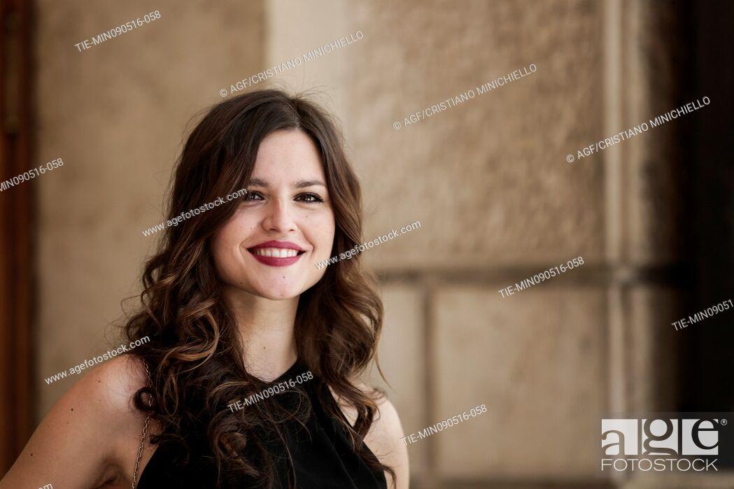 Stock Photo: Ivana Lotito attends the photocall of the fiction Gomorrah 2, Rome, Italy 09/05/2016.