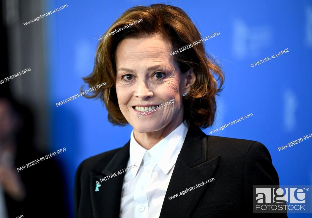 """Stock Photo: 20 February 2020, Berlin: 70th Berlinale, Photocall, Berlinale Special Gala, Photocall for film """"""""My Salinger Year Actress Sigourney Weaver."""