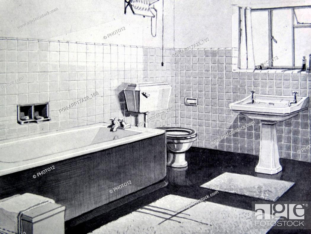 Photograph Of A 1950s Bathroom Stock Photo Picture And Rights