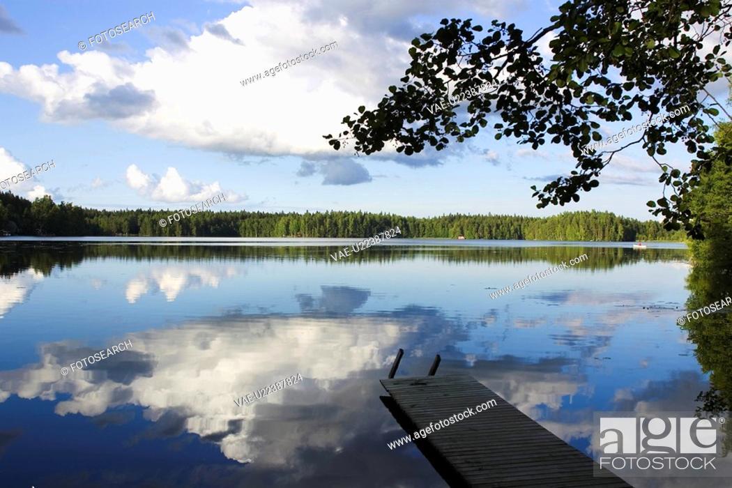 Stock Photo: Blue, Boardwalk, Cloud, Day.