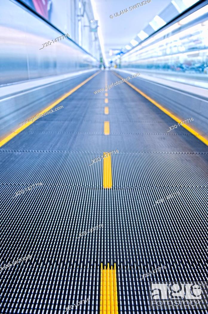 Stock Photo: Airport Walkway.
