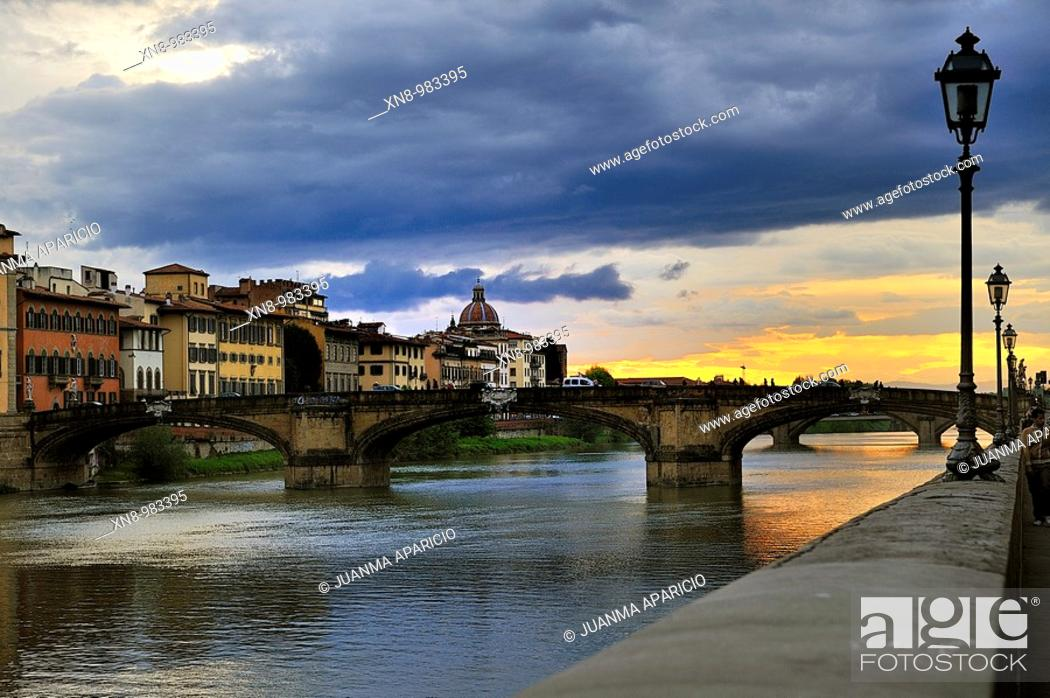 Stock Photo: Florence (Firenze in Italian) is a city located in northern central Italy, capital and largest city of the homonymous province and the region of Tuscany.