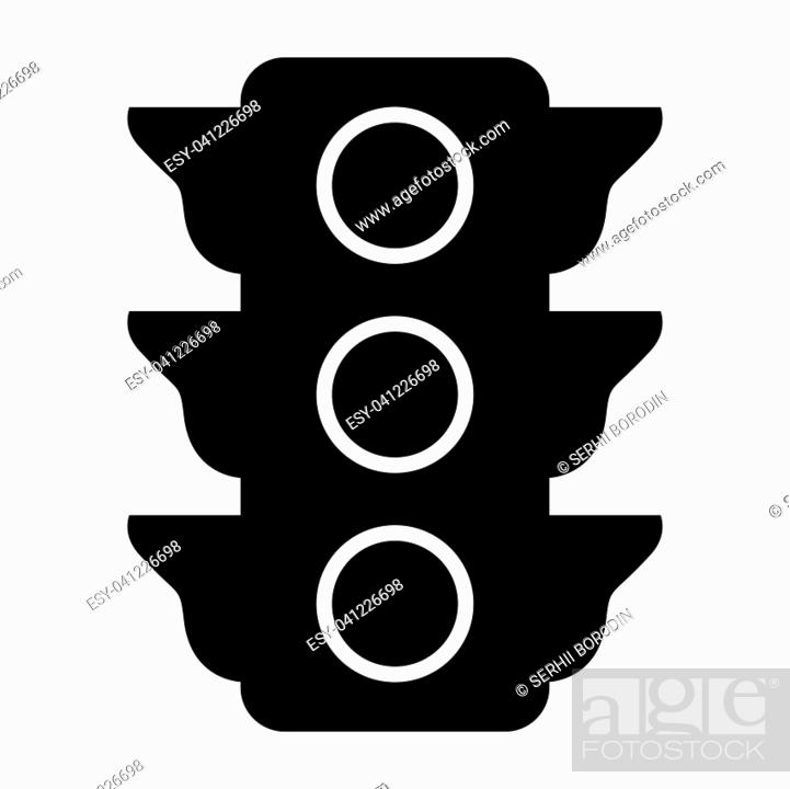 Stock Vector: Traffic light it is the black color icon .