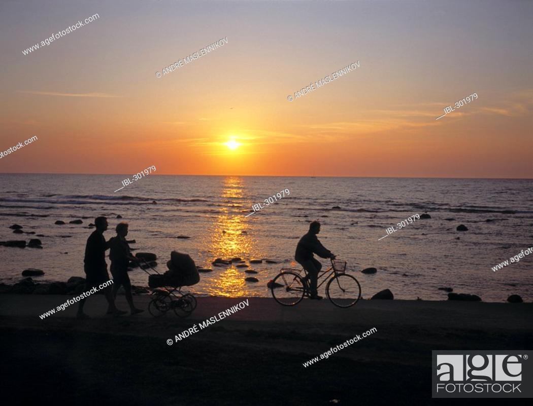 Stock Photo: Sunset on Gotland.