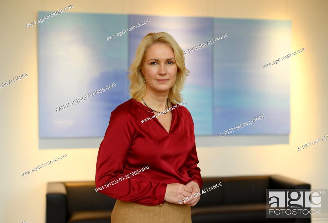 Imagen: 20 December 2018, Mecklenburg-Western Pomerania, Schwerin: Manuela Schwesig (SPD), Prime Minister of Mecklenburg-Western Pomerania.