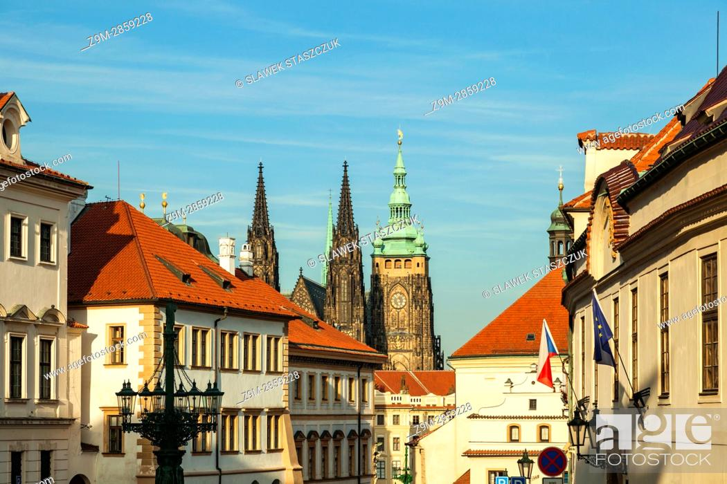 Stock Photo: Autumn afternoon at Hradcany, Prague, Czech Republic.