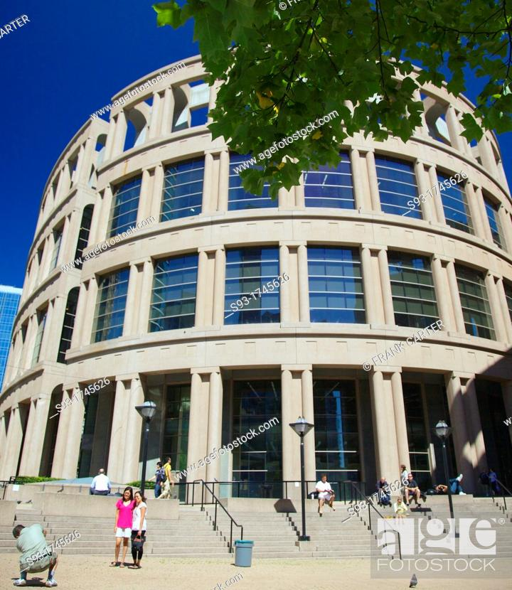 Stock Photo: A view of the Vancouver Public library.