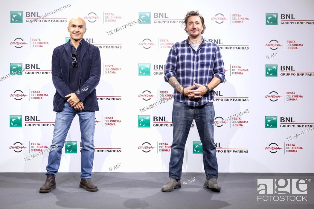 "Stock Photo: Lorenzo Mieli, Alex Infascelli attends the photocall of the movie """"Mi chiamo Francesco Totti"""" during the 15th Rome Film Festival on October 17, 2020 in Rome."