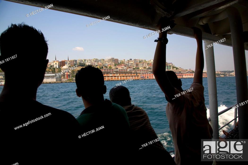 Stock Photo: tourists Bosphorus sailing.