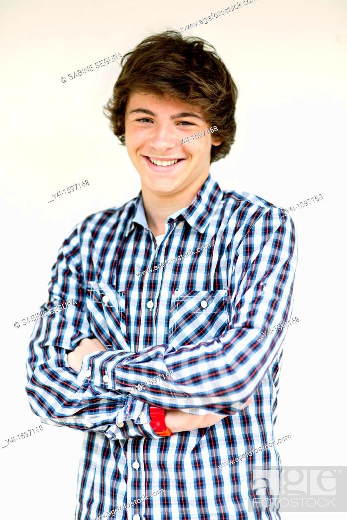 Stock Photo: Portrait of a teenage boy.