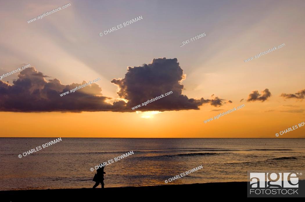 Stock Photo: Europe, Italy, Paestum, beach, Campania, tyrrhenian coast.