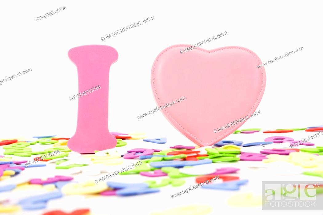Stock Photo: I and heart shape.
