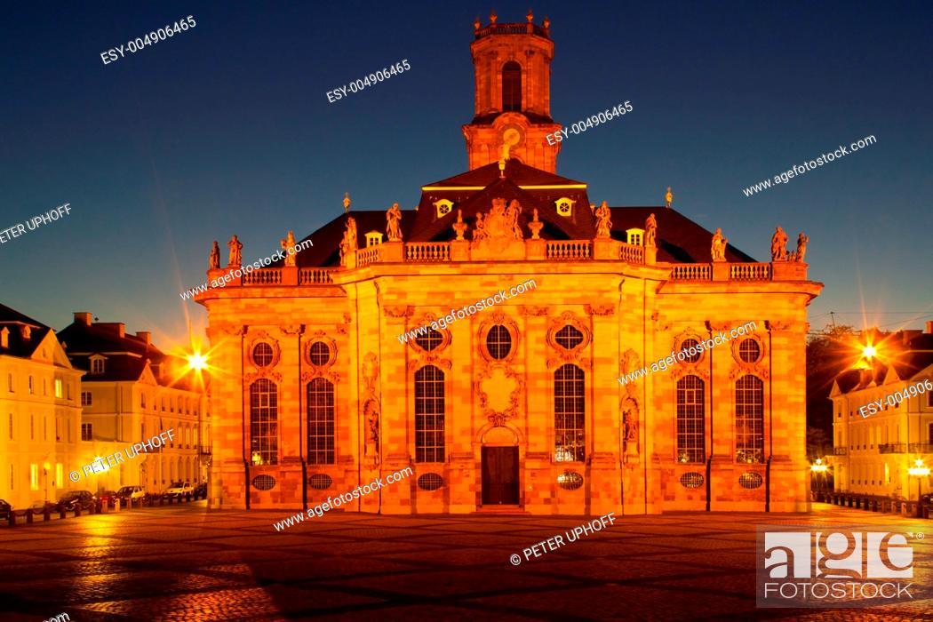 Stock Photo: Ludwigskirche in Saarbrücken.