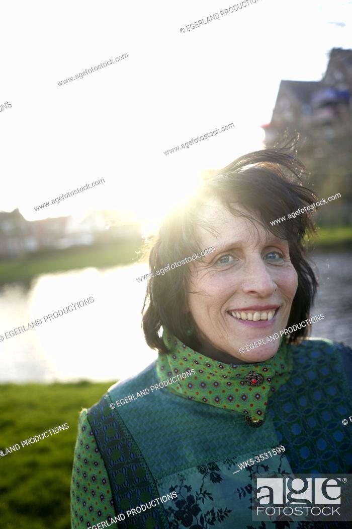 Stock Photo: happy mature woman.