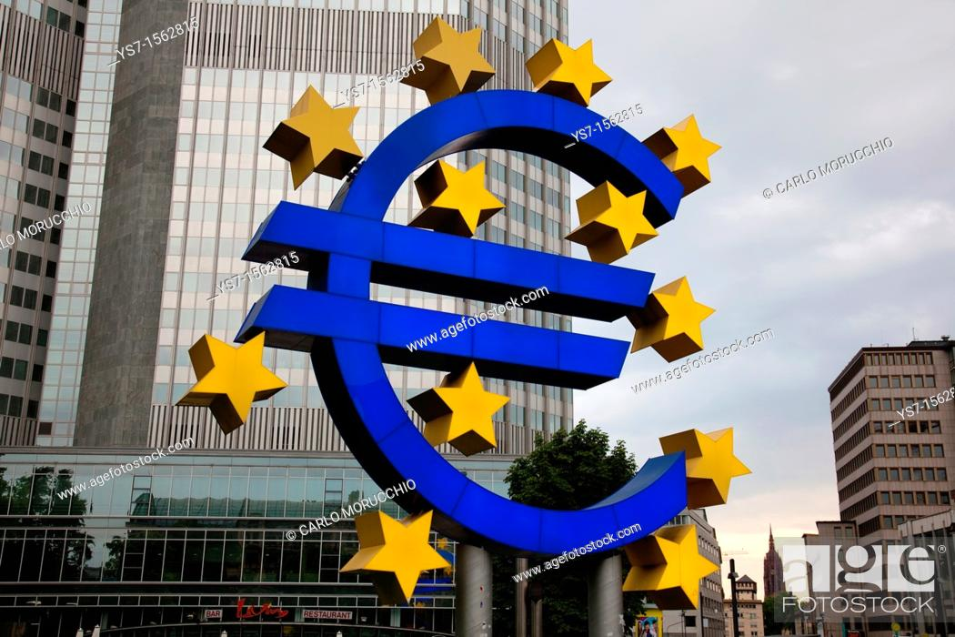Stock Photo: The European Central Bank is the institution of the European Union EU that administers the monetary policy of the 17 EU Eurozone member states.